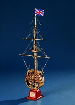 35-50 ビクトリー  HMS VICTORY   年代   1765     船籍  イギリス   縮尺 1/98     キットメーカー コーレル COREL     製作者  霞  崇  Takashi Kasumi