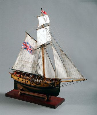 30-62 ハンター HUNTER  1797 イギリス 1/72 マモリ社  渡部 博 Hiroshi Watanabe