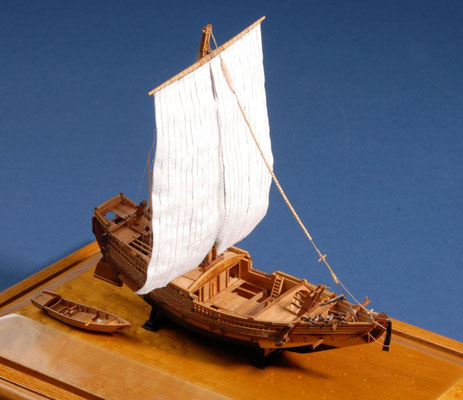 8 浪華丸 NANIWA-MARU  年代:    1619年  船籍: 日本  縮尺:    1/150    スクラッチビルト  製作者:  坪井悦朗  製作期間:7ヶ月