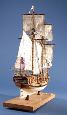 16 ハリファックス HALIFAX  年代:    1768   船籍: イギリス  縮尺:    1/54    マモリ  製作者:  岩波 昇   製作期間:8ヶ月