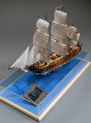 30-27 バウンティー H.M.S.BOUNTY  1787 イギリス 1/96 スクラッチビルト  田中 穂積