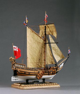 30-44 ヨット・メアリー  Yacht MARY 1646 イギリス  1/54 マモリ社  岩波 昇 Noboru Iwanami