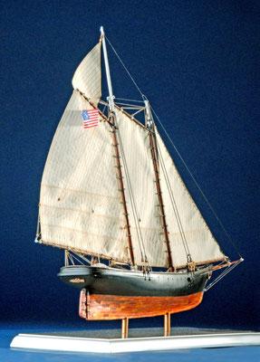 29 スクーナー・アメリカ schooner AMERICA  年代:    1851    船籍:アメリカ  縮尺:    1/72 ビリングボード  製作者:  稲川健二  製作期間:8ヶ月