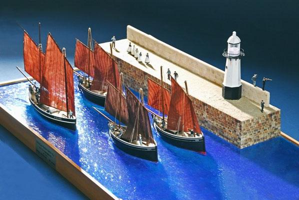 35-44 アルフレッド・ウォレスへのオマージュ   年代   19世紀末     船籍  イギリス    縮尺 1/54     素材   自作   Scratch built    製作者  松本 善文  Yoshifumi Matsumoto