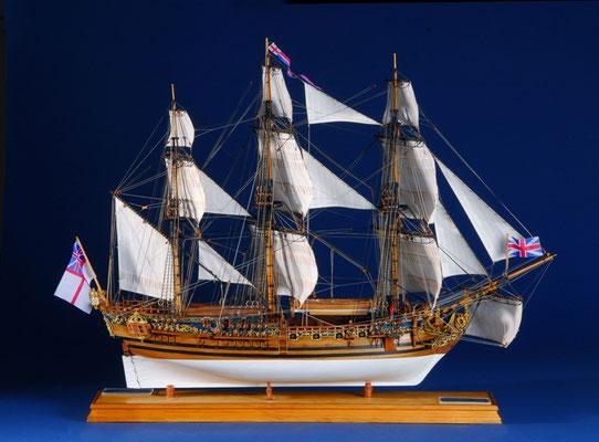 35-21 キャロライン CAROLINE  年代  1749     船籍  イギリス    縮尺 1/47    キット パナルト    西明 秀哉  Hideya Saimei