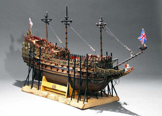 32-50 ソブリン・オブ・ザ・シー SOVEREIGN OF THE SEAS  年代:    1637年  製作者:   大橋則顕  製作期間:4年6ヶ月