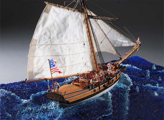36-27 バージニア・スループ VIRGINIA ALOOP 1768 アメリカ 1/48 岩本和明 Kazuaki Iwamoto