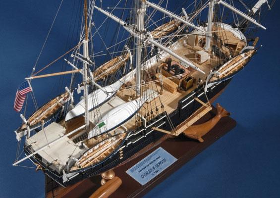 24 チャールス・モーガン CHARLES W.MORGAN  年代:    1841   船籍: アメリカ  縮尺:    1/64    モデルシップウェイ  製作者:  染谷文男  製作期間:1年4ヶ月
