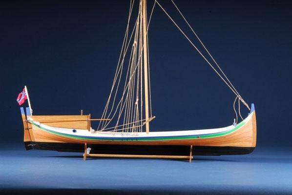 35-12  船名   ノルトランドのボート NORDLANDSBÅDEN   年代   17世紀      船籍  ノルウェー     縮尺 1/20   キットメーカー ビリングボート  billing boats    製作者  関口 正巳  Masami Sekiguchi