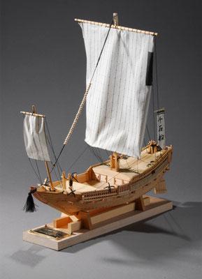 32-4    千石船    Sengoku-bune  年代:    17~18世紀  製作者:  奥村義也  製作期間:2ヶ月