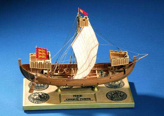 35-2 イギリスの5都市同盟の船   NEF der Cinque Ports  13世紀  イギリス   1/50   田中武敏 Taketoshi Tanaka
