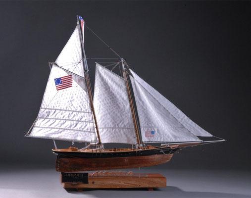36-40 アメリカ AMERICA  1851年  アメリカ  1/66 キット マモリ(Mamoli)  志村健次 Kenji Shimura