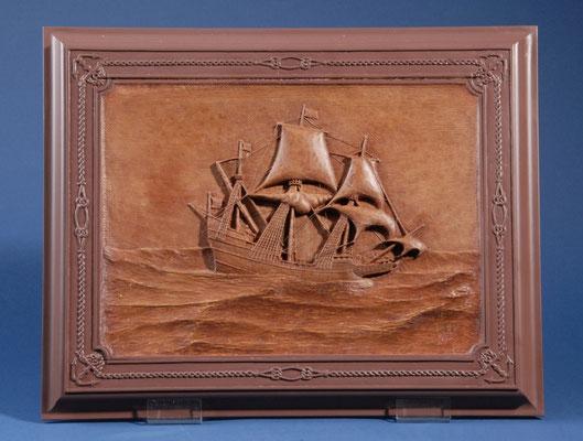 5 ゴールデン・ハインド GOLDEN HIND  年代: 1577年  船籍: イギリス  縮尺: 1/53    スクラッチビルト  製作者:鈴木雄助  製作期間:4ヶ月