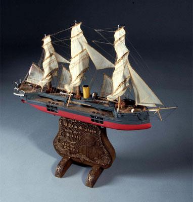 36-45 キャップテン HMS Captain  1870年 イギリス 1/250  自作 Scratchbuilt 宮島 俊夫 Toshio Miyajima