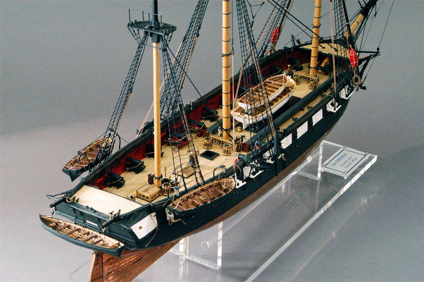 31-33 ラ・クレオール LA CREOLE  1829年 フランス  1/60  スクラッチビルト 丹羽 正 Tadashi Niwa