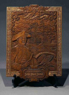 38 レリーフ「ジョン・ポール・ジョーンズの肖像」Relief  年代:    1779年  製作者: 宮島俊夫  レリーフ