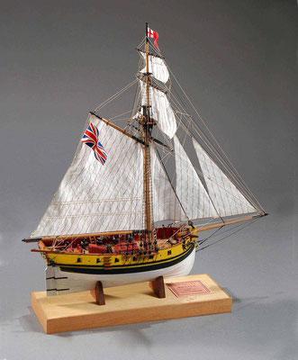 30-23 ハンター HUNTER  1797 イギリス 1/72 スクラッチビルト  浅川 英明 Hideaki Asakawa
