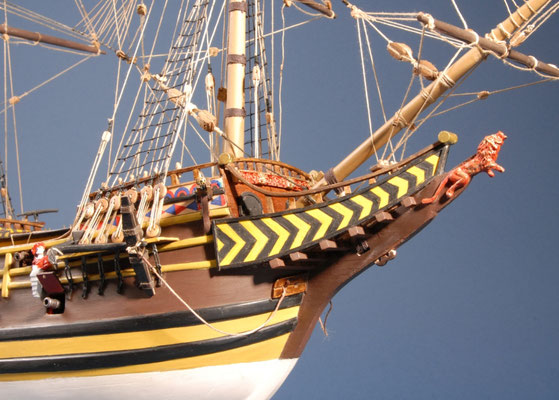 6 ローテル・レーベ ROTER L?WE  年代:   1597年  船籍: オランダ  縮尺:   1/55    マモリ社キット  製作者:赤股 清  製作期間:2年3ヶ月