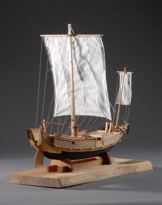 36-35 北前船 Kitamaebune  19世紀 日本  1/30 キット ウッディジョー(Woody Joe)  霞 崇 Takashi Kasumi