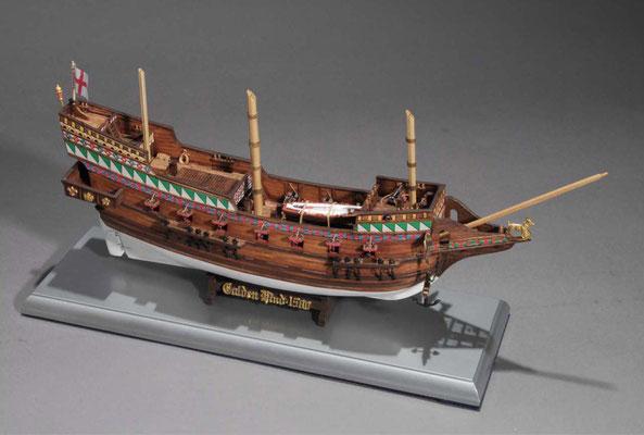 32-47 ゴールデン・ハインド  GOLDEN HIND  年代:    1577年  製作者:   稲川健二  製作期間: 8ヶ月