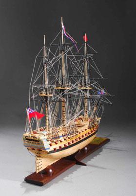 32-17 ベローナ H.M.S.BELLONA  年代:    1780年  製作者:   三上裕久  製作期間: 2年