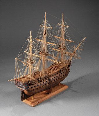 30-29 ビクトリー H.M.S.VICTORY  1765 イギリス 1/196 スクラッチビルト  幡野 章