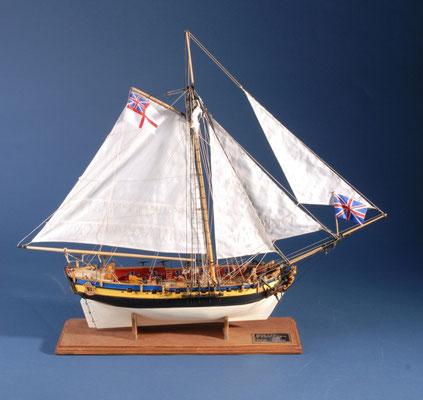 48    シャーク    SHARKE  年代:   1711  船籍:   イギリス  縮尺:   1/50    スクラッチビルト   製作者: 泉 邦幸  製作期間:  1年