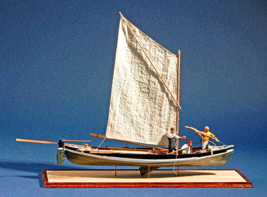 46    ホエール・ボート    Whale Boat  年代:  19世紀中期   船籍: アメリカ   縮尺:   1/16   スクラッチビルト  製作者: 岩本和明  製作期間:  9ヶ月