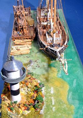 44    ファニア・ゴーハン    FANNIEA GORHAM  年代:   1880   船籍: イギリス  縮尺:   1/96  スクラッチビルト  製作者: 青木 武  製作期間:  2年