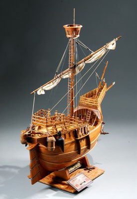 34-8  カタロニアの船 Catalonia Ship  国 籍   nationality     スペイン 建造年  age     15世紀 縮 尺   scale  1/30 製作方法 kit 製 作:志村 健次 Kenji Shimura