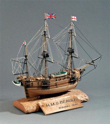 31-16 ビ ー グル H.M.S.BEAGLE  1817年 イギリス  1/64  マモリ社 上野宣孝  Noritaka Ueno