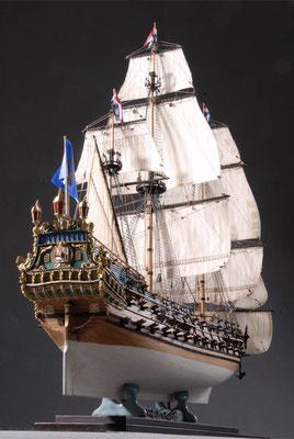 36-11 フリースランド FRIESLAND  1663年 オランダ  1/75 キット マモリ社(Mamoli)  赤道達也 Tatsuya Akamichi