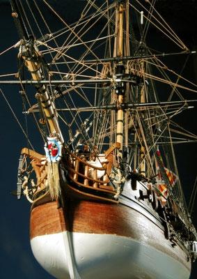 35-13  船名   カカフェゴ CACAFUEGO   年代   1635     船籍  スペイン      縮尺 1/72   素材   自作   Scratch built    製作者  小川 武男(一般)  Takeo Ogawa