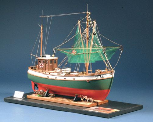 35 蟹トロール船 COX87  年代:    20世紀中期   船籍: ドイツ  縮尺:    1/33    ビリング・ボート   製作者:  橋原宗重  製作期間:   6ヶ月