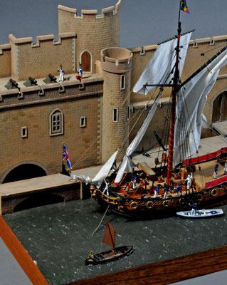 39    チャールズ・ヨット    Charles Yacht  年代:   1674  船籍: イギリス  縮尺:   1/64    ウッディジョー   製作者:白井一信  製作期間: 9ヶ月