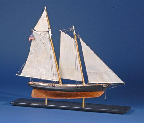 27 スクーナー・アメリカ schooner AMERICA  年代:    1851    船籍:アメリカ  縮尺:    1/72 ビリングボード  製作者:  三島哲也  製作期間:8ヶ月
