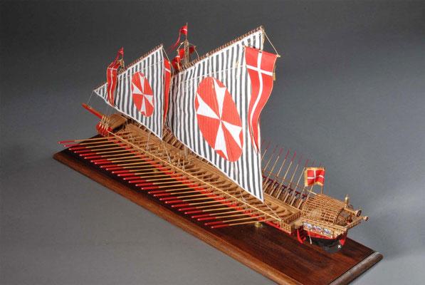 36-8 マルタのガレー船 Galley for Knights of Malta  16世紀末  マルタ  1/75 自作 Scratchbuilt  木村 護 Mamoru Kimura