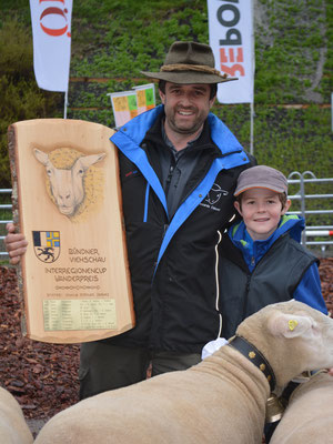 Züchter Riccardo und Carlo von der Siegergruppe