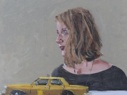 Taxi, 2021, Öl auf Holz, 30 X 40cm