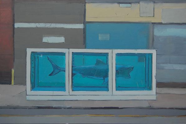 Chelsea-Shark, Öl auf Leinwand, 120cm X 180cm, Kunstsammlung Kreis Steinfurt
