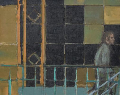 Station, 2010, Öl auf Leinwand, 40cm X 50cm