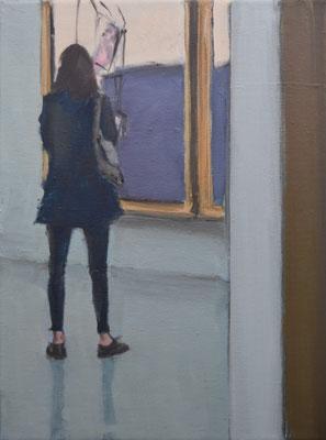 Look At The Painting, 2020, Öl auf Leinwand, 40cm X 30cm