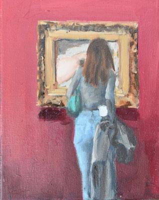 Courbet, 2020, Öl auf Leinwand, 30 X 24cm