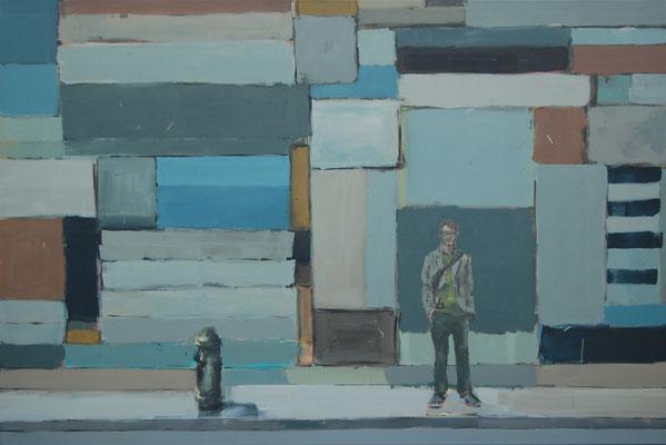 Soho, 2012, Öl auf Leinwand, 120cm X 180cm, Privatbesitz