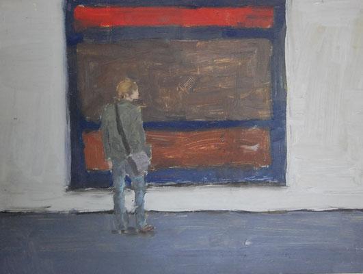 Mark, 2012, Öl auf Holz, 30cm X 40cm, Privatbesitz