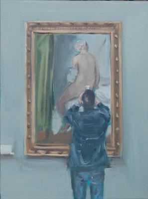 Ingres, 2017, Öl auf Leinwand, 40cm X 30cm, Privatbesitz