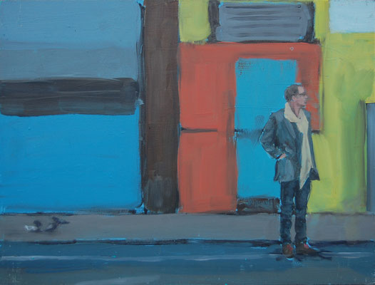 Chelsea Man, 2011, Öl auf Holz, 30cm X 40cm, Privatbesitz