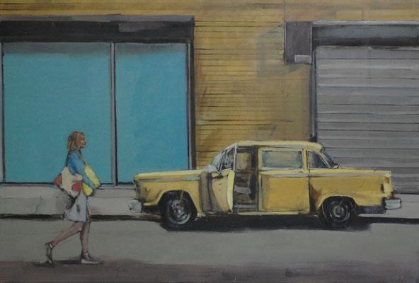 Taxi, 2016, Öl auf Leinwand, 120cm X 180cm, Privatbesitz