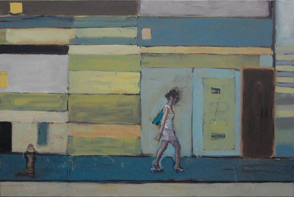 Walking, 2010, Öl auf Leinwand, 120cm X 180cm, Privatvesitz
