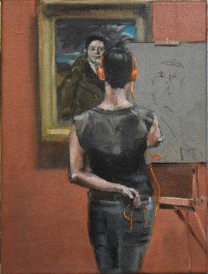 Ingres MET, 2017, Öl auf Leinwand, 40cm X 30cm